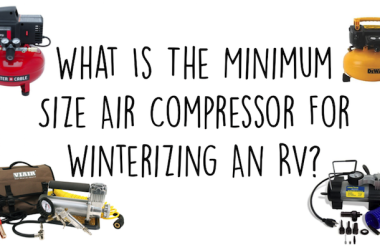 Minimum size air compressor RV winterization