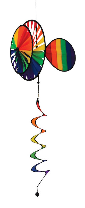 Rainbow dual wheel hanging spinner