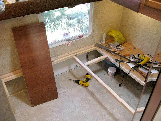 Removing the bunkhouse in an RV