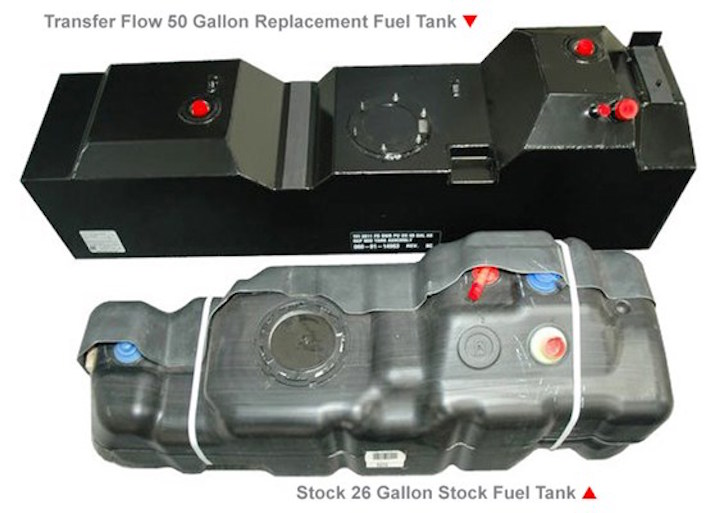 Replacement fuel tanks for a Ford pickup truck