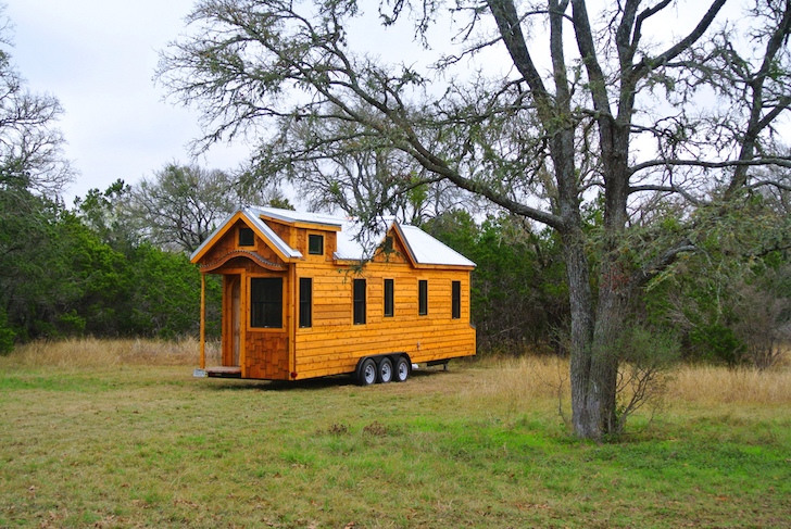 Tiny Mountain Houses Location: 30 Foot Trailer House With Two Lofts Made For Family In Texas