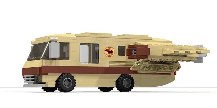 Side view of LEGO Ideas Eagle 5 model