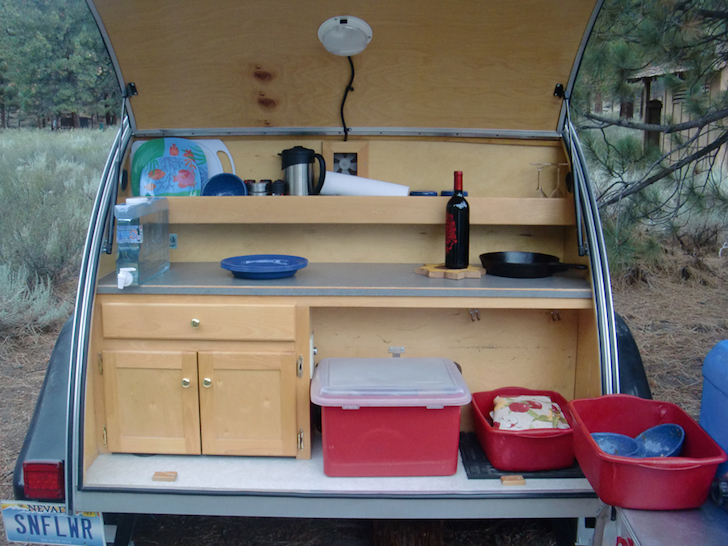 Teardrop trailer galley