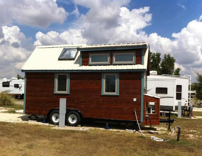 Tiny house at an RV park