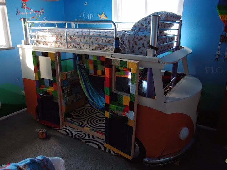 VW bunkbed in kids room