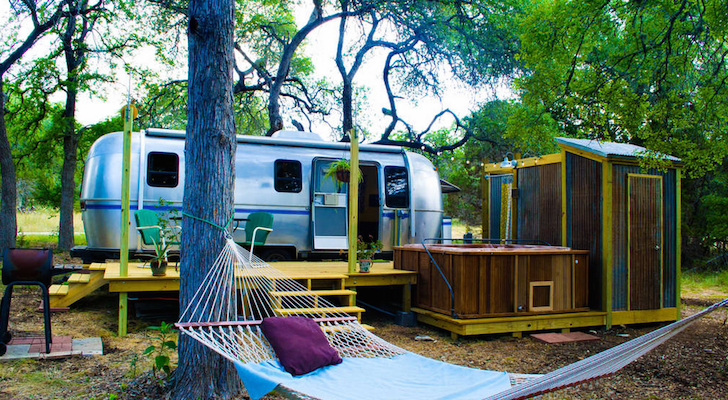 Vintage Airstream weekend retreat