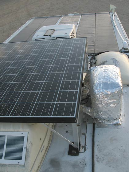 RV solar array roof panels