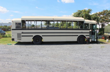 Raised roof 1999 Thomas SafTLiner skoolie bus conversion project