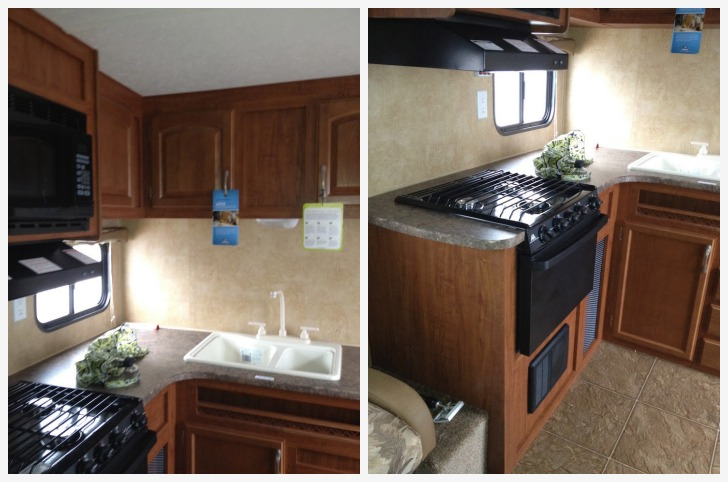 Before an RV kitchen makeover