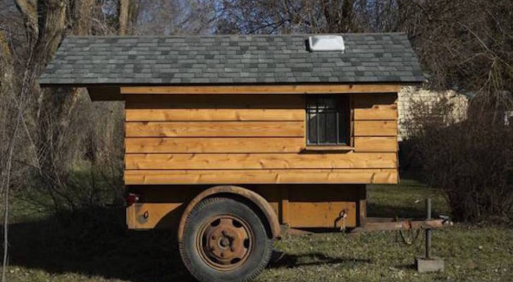 Mini RV Built On Top Of A World War II Ben Hur Trailer