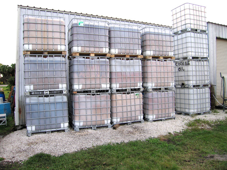 Biodiesel storage containers