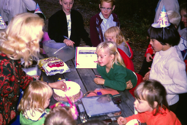 Birthday party at campground