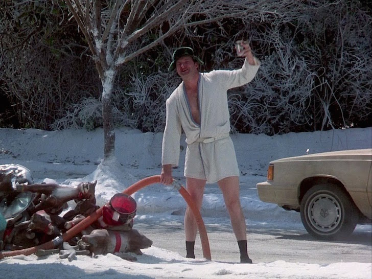 Cousin Eddie emptying waste tanks