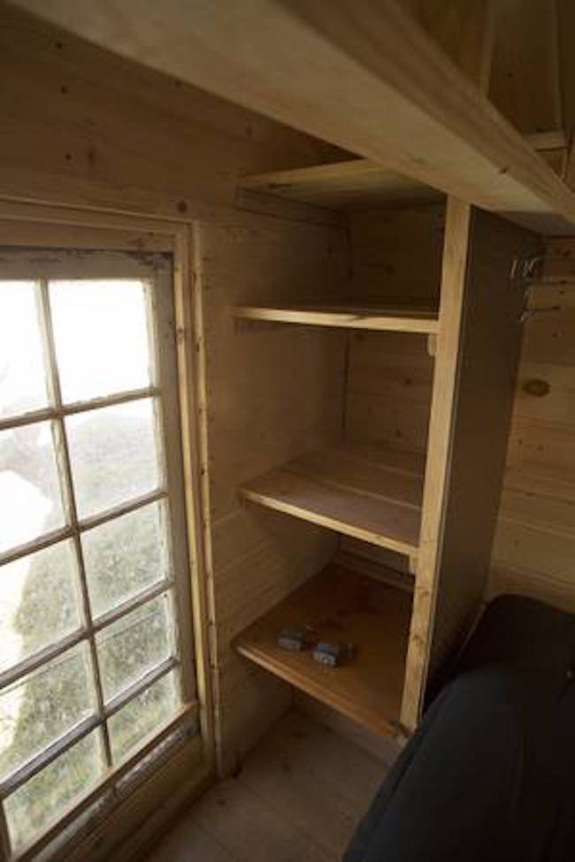 Cubby holes for storage