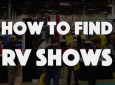 How to find RV shows