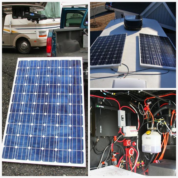 Installing RV solar power system