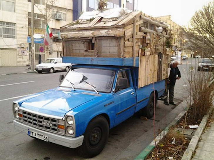 Man Lives In DIY Truck Camper In Tehran, Iran