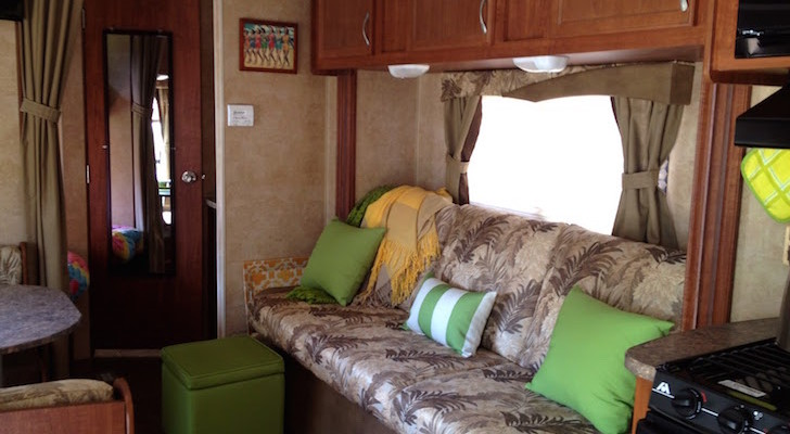 RV living room after renovation