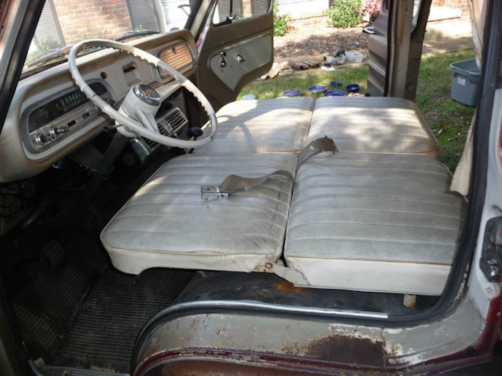 Seat in Corvair camper