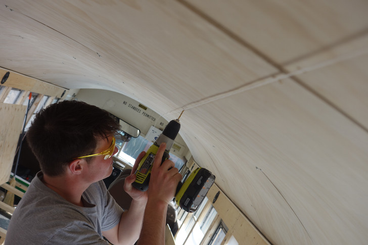 Adding a plywood ceiling
