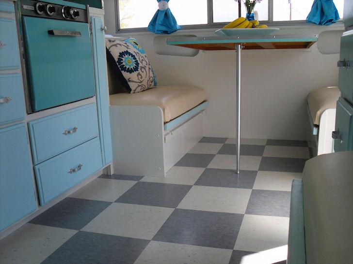 Checkerboard flooring
