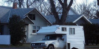 Datsun truck camper
