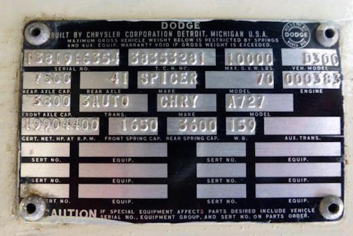 Dodge plate