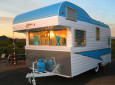 Fireball trailer at dusk