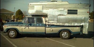Foiled lined truck camper