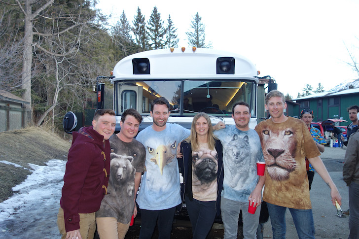 Friends in front of the Moose