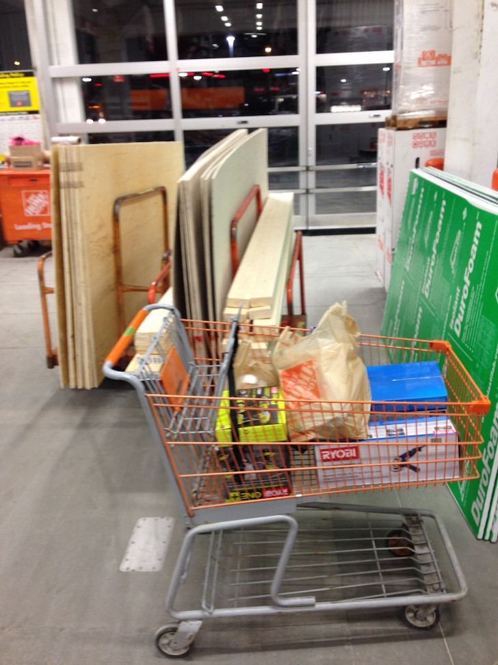 Home Depot skoolie run
