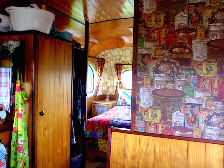 Interior of Emmylou house bus