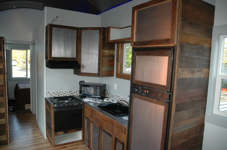 Kitchen in Tiny Idahomes tiny house