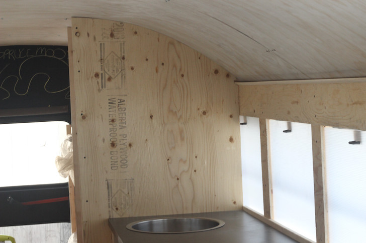 Kitchen sink in motorhome conversion