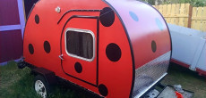 "Lydia Built Her ""Ladybug"" Teardrop Trailer When She was a Teen"