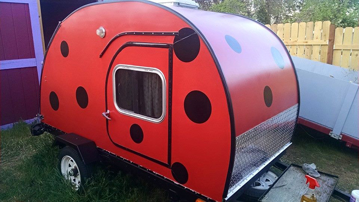 "Rv Rent To Own >> ""Ladybug"" Teardrop Trailer Was Built as a Senior Project"
