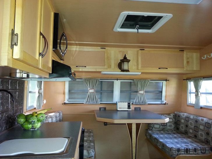 Maple and walnut interior