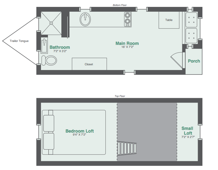monarch tiny house floor plan - Tiny House Blueprints