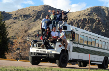 6 Australian Friends Converted A School Bus Into A Skoolie, Then Took An Epic US Road Trip