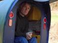 Paul Elkins bicycle camper