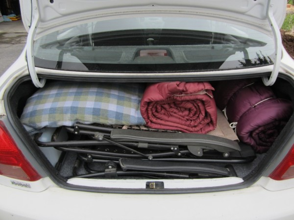 Plenty of room in trunk