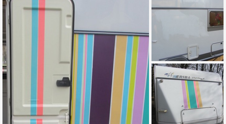 Decorate A Camper With Masking Tape For A Completely Original Look