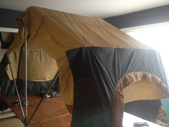 Leaking Garage Tent : Diy rooftop camper made from the simplest of materials