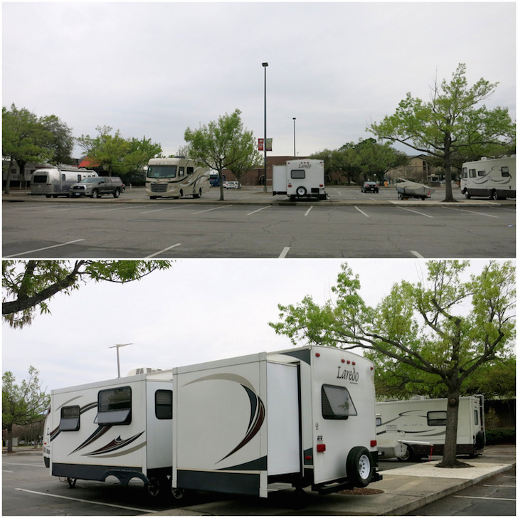 Savannah RV parking