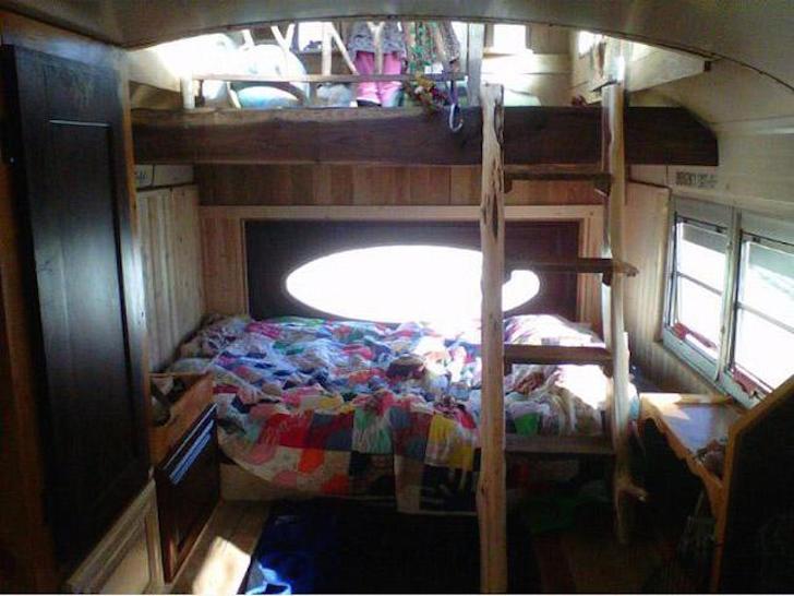 Sleeping area in the Cedar Bus