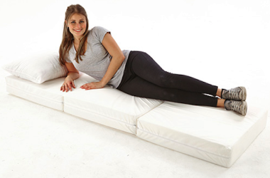 This Foot Stool Can Also Serve As A Bed – No Assembly Required
