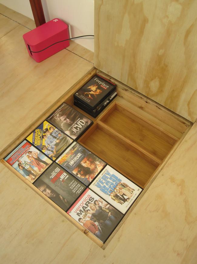 Storage area in floor