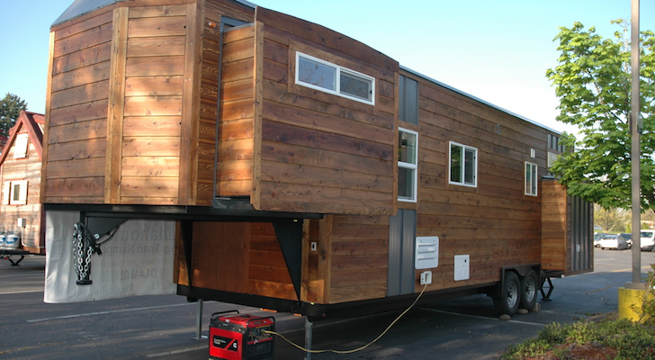 Tiny Idahomes goose neck trailer