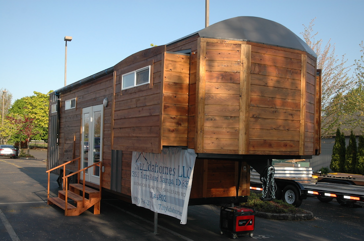 Tiny Idahomes slide out trailer