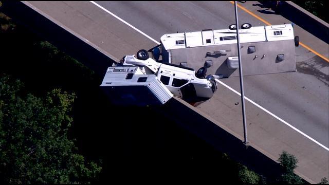 Truck camper accident